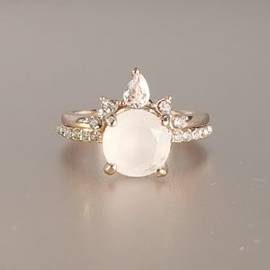 Jewelry - Moonstone and Crown Stacking Ring Set